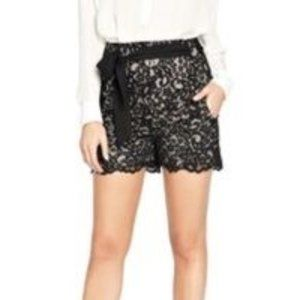 Guess by Marciano High waisted Black Lace shorts